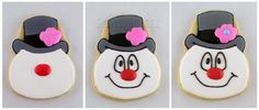 Frosty the Snowman Cookie Tutorial