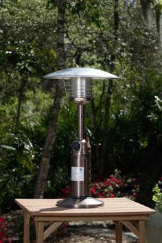 10 000 Btu Copper Finish Table Top Patio Heater