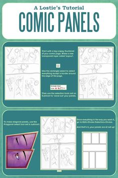A Lostie's Tutorial - Comic Panels and Layouts by lostie815.deviantart.com on @deviantART