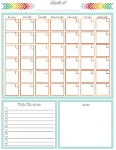 blank monthly calendar free printable print out and save