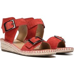 c93383c9bb8d Pair up bold details with this modern espadrille. Nubuck or leather upper.  Open toe. Leather Wedge SandalsLeather WedgesWedge HeelsFranco SartoSpring  ...