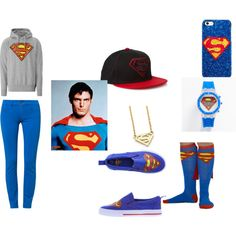 superman by ifarias-ep on Polyvore featuring Logoshirt and Praio