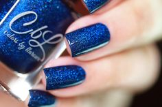 Colors by llarowe PotM - March 2017 - The Resistance is deep royal blue scattered holographich with holo prismatic flakes that show a brighter blue flame. Swatch photo by ressa_d on Instagram.