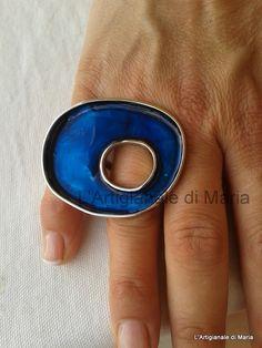 "Handmade ring ""blue"""