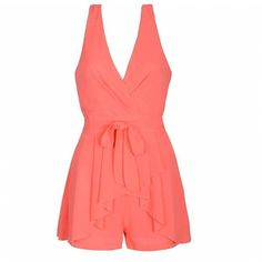 Ally Fashion Pleated skirt layer playsuit ($21) ❤ liked on Polyvore featuring jumpsuits and rompers
