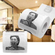 1 St Hillary Clinton Toiletpapier Tissue Grappige Roll Prank Joke Gift 2Ply 240 Sheet Kloof Gift