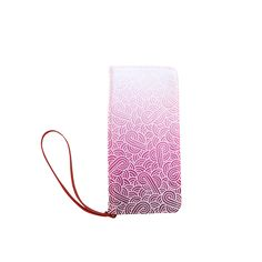 Ombre pink and white swirls doodles Women's Clutch Wallet by @savousepate on @artsadd