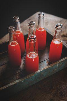 saltedtartine:  red bell pepper, lemon and basil soda.