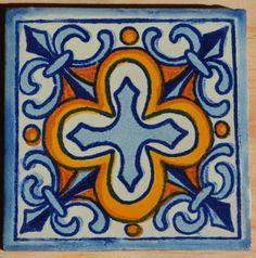 """50 Azulejos Mexicanos. Pintados a mano 4x4"""""""