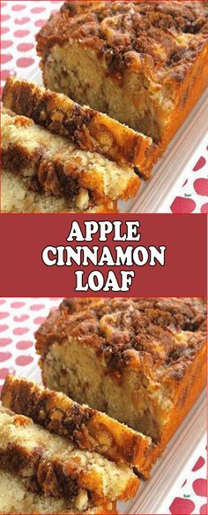 This recipe seriously makes The BEST Cinnamon Apple Bread! It tastes like apple crisp in bread form! Its moist flavorful and has a crunchy cinnamon topping. This Cinnamon Apple Bread is made with applesauce which Apple Desserts, Köstliche Desserts, Apple Recipes, Baking Recipes, Delicious Desserts, Cake Recipes, Dessert Recipes, Yummy Food, Desserts With Apples