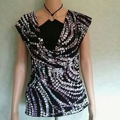 Shirt Multi colored top. Wear on a night out or cute as a button with slacks or shorts Studio Y Tops