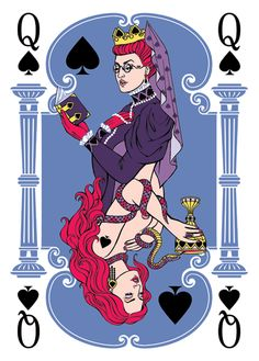 Spades kingdom by Elena Dolgova, via Behance