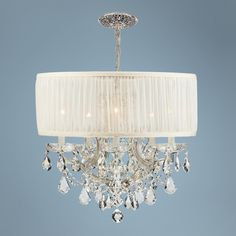Brentwood Collection Chrome 6-Light Crystal Chandelier - Crystorama $718