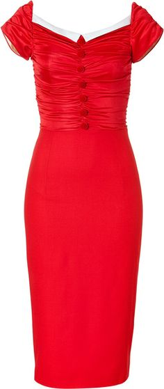 Red Draped Dress - Lyst