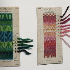 Svanen grön and Rubinen Knitting Charts, Loom Knitting, Hand Knitting, Knitting Patterns, Crochet Patterns, Diy Tv, Fair Isle Chart, Fair Isle Knitting, Recycling