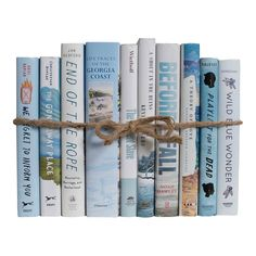 Add a splash of color to your design with a Modern Nautical Dust Jacket ColorPak from Booth & Williams. These are authentic Modern hardback books i. Noah Hawley, Farmhouse Books, Celestial Wedding, 12th Book, Stack Of Books, Book Crafts, Diy Crafts, Jute Twine, Hand Wrap