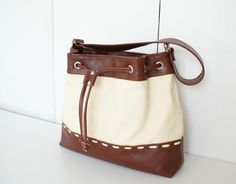 A great fall bag -- with enough room for a laptop and magazines. #countryliving