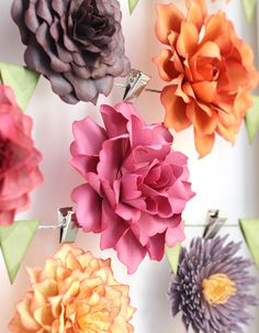 DIY Paper flowers cut with the Silhouette (and a nesting tutorial)