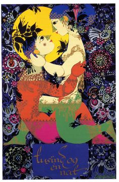 Bjorn Wiinblad - Plakat til 1001 Nat, Hasselbalchs Udgave (Poster for 1001 night, hasselbalchs Version)