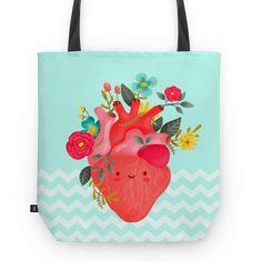 Bolsa Coração florido de @tamilustras | Colab55