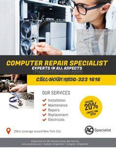 Computer Repair Services, Computer Service, Brochure Design, Flyer Design, Logo Design, Ace Logo, Apple Repair, Rollup Banner, Laptop Repair