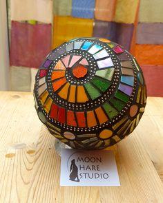 mosaic ball Moon Hare Studio