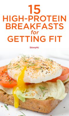 Get a strong, powerful start to your day with these high-protein breakfasts! Get a strong, powerful start to your day with these high-protein breakfasts! Healthy Protein Snacks, Healthy Breakfast Recipes, Healthy Recipes, Healthy Lunches, Healthy Breakfasts, Detox Recipes, Happy Way Protein, Protein Cake, Protein Muffins