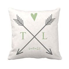 Pillow Cover Cotton Wedding Gift Anniversary Gift Personalized Name or Initials Arrow Cotton and Burlap Pillow Cover Wedding Anniversary Gifts, Wedding Gifts, Anniversary Ideas, Wedding Wishes, Burlap Pillows, Throw Pillows, Diy Presents, Name Gifts, Personalized Gifts