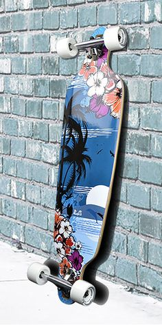"""Punked 40"""" Tropical Night Longboard Complete"""
