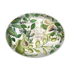 Avocado Glass Soap Dish