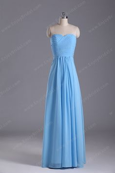 A-line Sweetheart Sleeveless Floor-length Elegant Simple Chiffon Prom Dress 2013$115.00