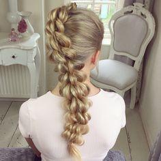 The Four Strand Pull Through Braid by SweetHearts Hair Design