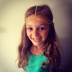 Girls Head Chain kids accessories girls hair by CameronCouture