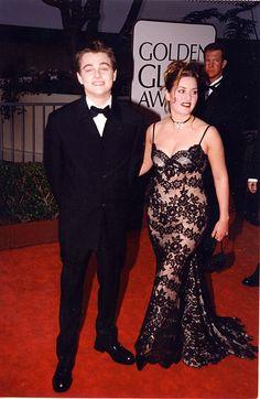 Leonardo DiCaprio & Kate Winslet at the 55th Golden Globe Awards (1998).