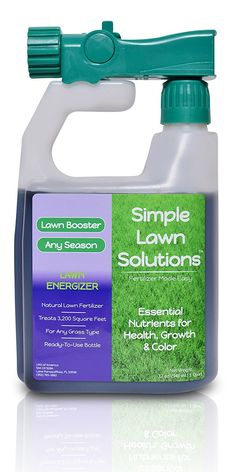 Commercial Grade Lawn Energizer- Grass Micronutrient Booster w/ Nitrogen- Natural Liquid Turf Spray Concentrated Fertilizer- Any Grass Type, All Year- Simple Lawn Solutions- 32 Ounce -- New and awesome product awaits you, Read it now  : home diy yard