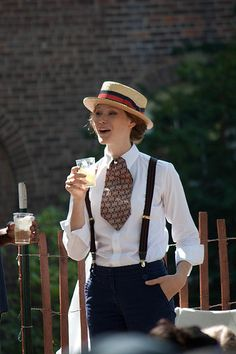 Masculine accessories are oh so flattering at the Jazz Age Festival, Governors Island