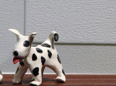 The Muddy Dog ceramic dog figurine by MuddyDogStudio on Etsy