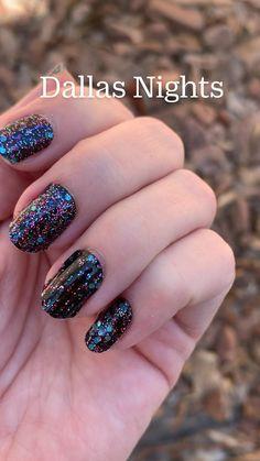 Blue Nails, Glitter Nails, Cool Nail Designs, Stylish Nails, Nail Trends, Summer Nails, Dallas, Rarity, Night