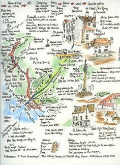 Lovely Folkestone history sketch map.