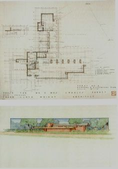 Usonian House, Frank Lloyd Wright, Architecture Plan, Floor Plans, Author, How To Plan, Architecture, Writers, Floor Plan Drawing