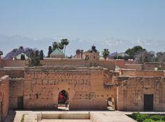 Atlas Mountains behind El Badi Palace, Ksibat Nhass, Marrakesh, Morocco