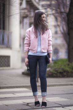 pink bomber. Irina in Norway.   #APortablePackage
