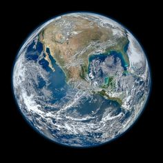 Planet Earth, high-definition photo from NASA's Earth-observing satellite Suomi NPP taken on January 4, 2012