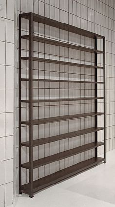 bookcase, steel L profile, black mdf