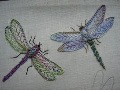 Brazilian Embroidery Patterns I ❤ embroidery . Dragonflies~ The creator of these beauties is Chris Richards of Ellas Craft Creations Embroidery Designs, Crewel Embroidery Kits, Silk Ribbon Embroidery, Embroidery Needles, Cross Stitch Embroidery, Machine Embroidery, Embroidery Supplies, Embroidery Books, Embroidery Alphabet