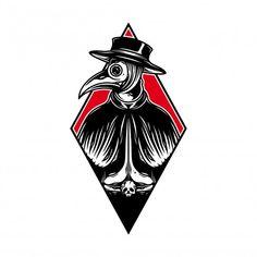 Plauge Doctor, Doctor Tattoo, Tatto Old, Reaper Tattoo, Old School Tattoo Designs, Traditional Tattoo Art, Tatuagem Old School, Psy Art, Dark Tattoo