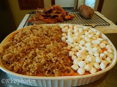 Do you make the sweet potato casserole with or without marshmallows? With His and Hers Sweet Potato Casserole, you won't have to decide. This dish has two toppings. One side is covered with marshmallows and the other is topped with pecans or cashews. Everybody wins!