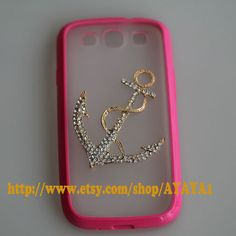 Samsung Galaxy S3 case,phone cover, roseo color frosted translucent Samsung Galaxy S3 case with a anchor on Etsy, $13.99