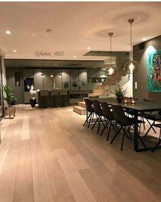 La imagen puede contener: tabla e interior Home Room Design, Home Design Decor, Home Interior Design, Interior Decorating, Home Decor, Nordic Home, Scandinavian Home, Modern Kitchen Design, Modern House Design