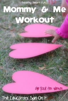 Mommy and Me Workout Ideas for Healthy Heart Fun for 2015. Includes 7 Stations to set up with your kids indoors or outdoors.
